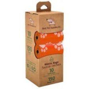 Orange Poop Bags - White Paws